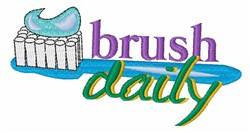 Brush Daily embroidery design