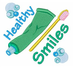 Healthy Smiles embroidery design
