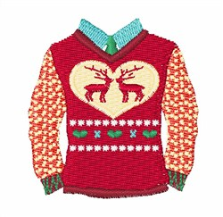 Ugly Christmas Sweater embroidery design
