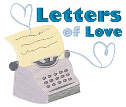 Letters Of Love embroidery design