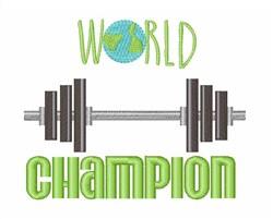 World Champion embroidery design