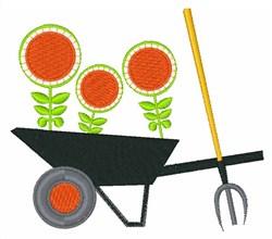 Garden Wheelbarrow embroidery design