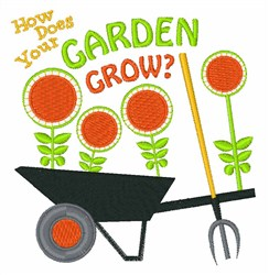 How Does Garden Grow embroidery design