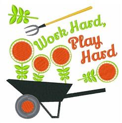 Work Hard, Play Hard embroidery design