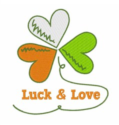 Luck & Love embroidery design