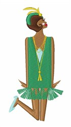 Flapper embroidery design