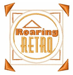Roaring Retro embroidery design