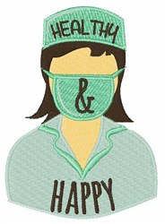 Healthy & Happy embroidery design