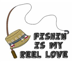 Fishin Is My Love embroidery design