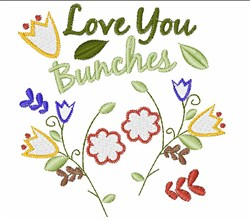 Love You Bunches embroidery design