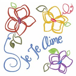 Je Te Aime embroidery design