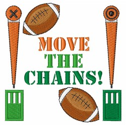 Move The Chains embroidery design
