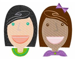 Girl Friends embroidery design