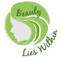 Beauty Lies Within embroidery design