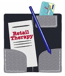 Retail Therapy embroidery design
