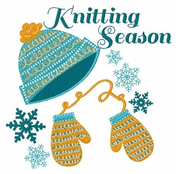 Knitting Season embroidery design