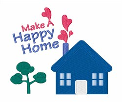 Happy Home embroidery design
