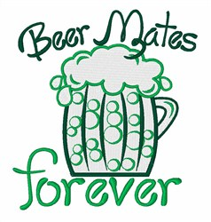 Beer Mates embroidery design