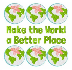 Make World Better embroidery design
