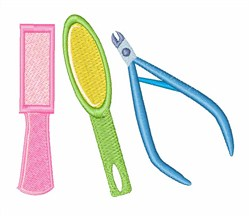 Manicure Tools embroidery design