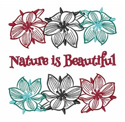 Nature Is Beautiful embroidery design