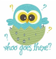 Who Goes There embroidery design