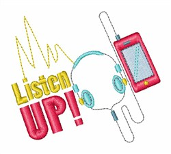 Listen Up! embroidery design