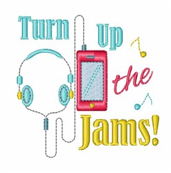 Turn Up The Jams! embroidery design