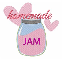 Homemade Jam embroidery design
