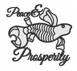 Peace & Prosperity Koi embroidery design