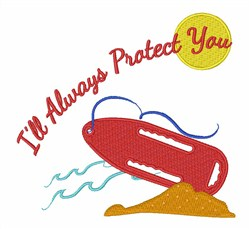 Lifeguards Protect embroidery design