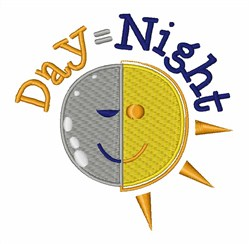 Day Equal Night Sun embroidery design