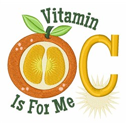 Got Vitamin C? embroidery design