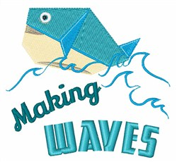 Making Waves embroidery design