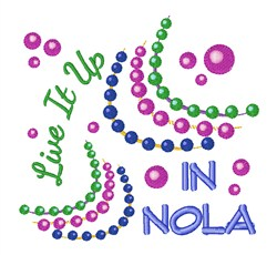 Live It Up NOLA embroidery design