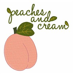 Peaches And Cream embroidery design