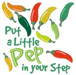 Pep In Your Step embroidery design