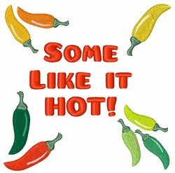 Some Like It Hot! embroidery design