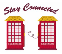Stay Connected embroidery design