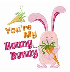 My Hunny Bunny embroidery design
