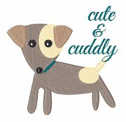 Cute & Cuddly Dog embroidery design