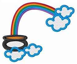 Pot O Gold Rainbow embroidery design