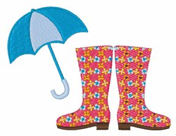 Walking In The Rain embroidery design