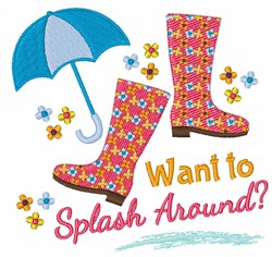 Want To Splash Around? embroidery design