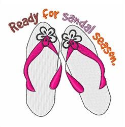 Its Sandal Season embroidery design