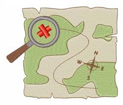 Treasure Hunt Map embroidery design