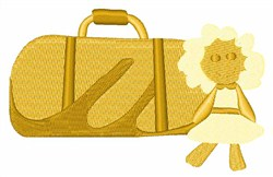 Luggage embroidery design