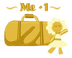Me plus 1 Luggage embroidery design