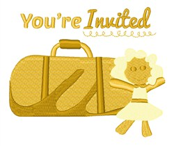 Youre Invited Luggage embroidery design