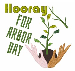 Hooray For Arbor Day embroidery design
